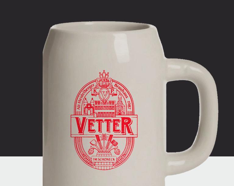 Für Fans Vetter Bierkrug