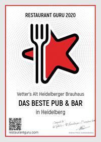 Pub & Bar Guru Auszeichnung